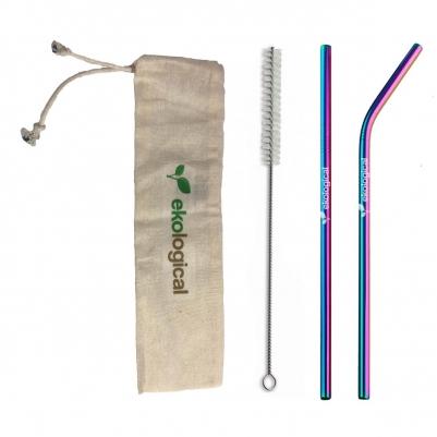 Kit de Dupla de Canudos Ecológicos Coloridos