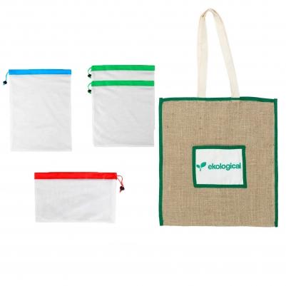 Kit de Ecobags Para Feira