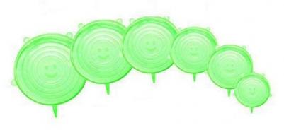 Kit de 6 Tampas Quadradas de Silicone Universal Verde