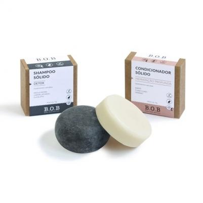 Kit Shampoo, Condicionador em Barra para Cabelos Normais a Ressecados e Saboneteiras