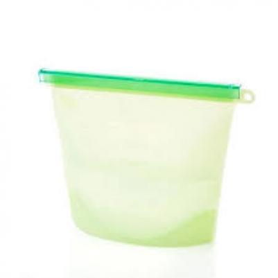 Saco Silicone Reutilizável 1500ml Verde Avulso
