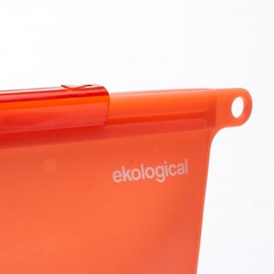Saco Silicone Reutilizável Vermelho 1000ml