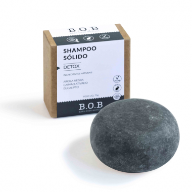 Shampoo em Barra Detox Para Todos os Cabelos