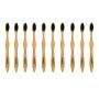 Kit de 10 escovas de dente ecológicas de bambú