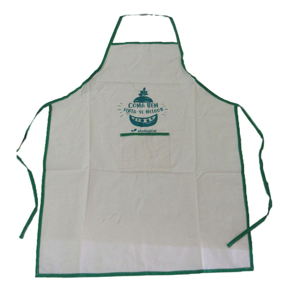 Avental de Cozinha de Algodão Cru