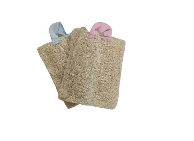 Conjunto de Bucha Vegetal Para Louça e Banho