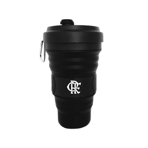 Copão de Silicone Retrátil do Flamengo 550ml