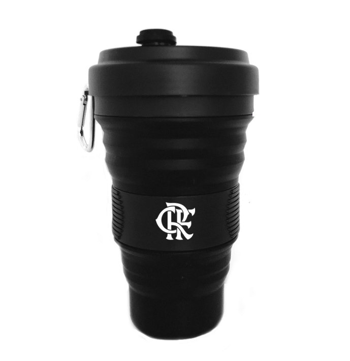 Copo Retrátil de Silicone do Flamengo 550ml