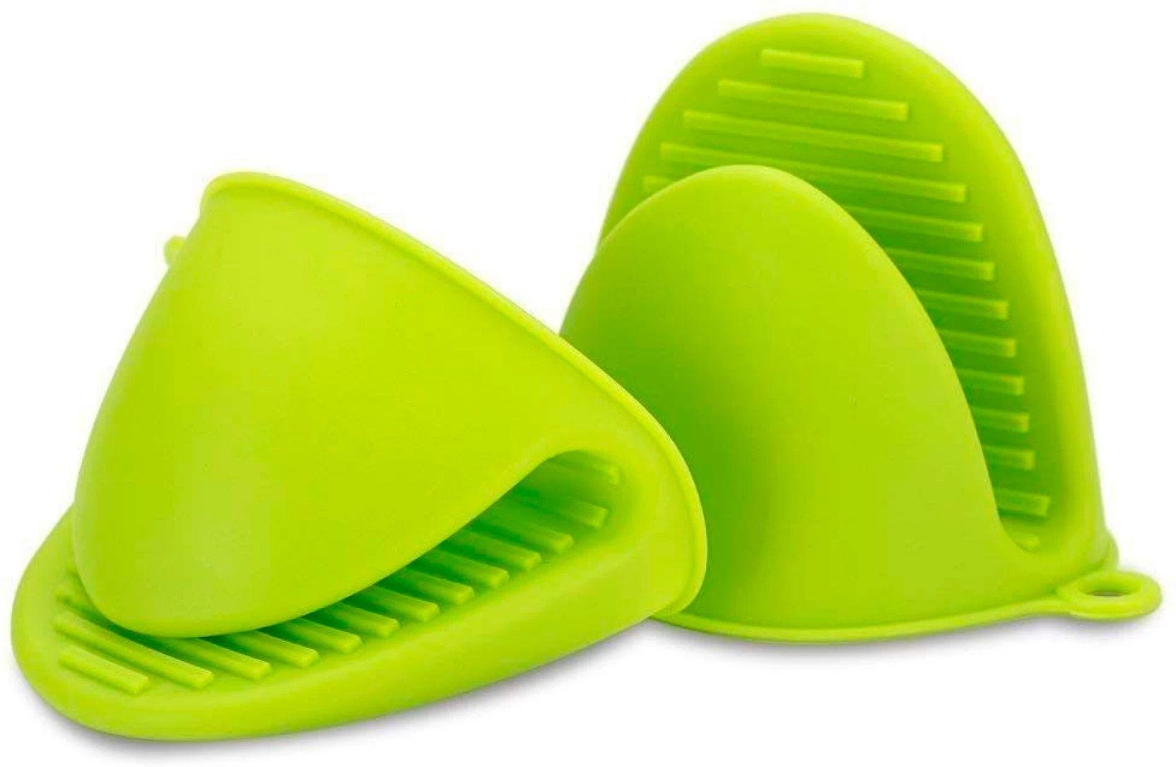 Conjunto de Luvas de Silicone de Forno Verde (1 par)