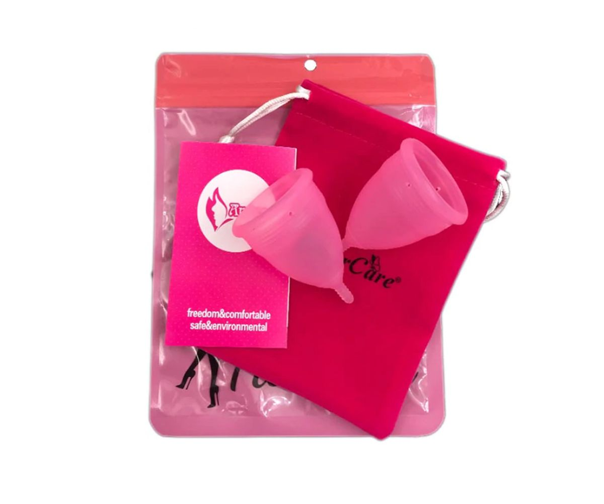 Kit Copo Coletor Menstrual de Silicone