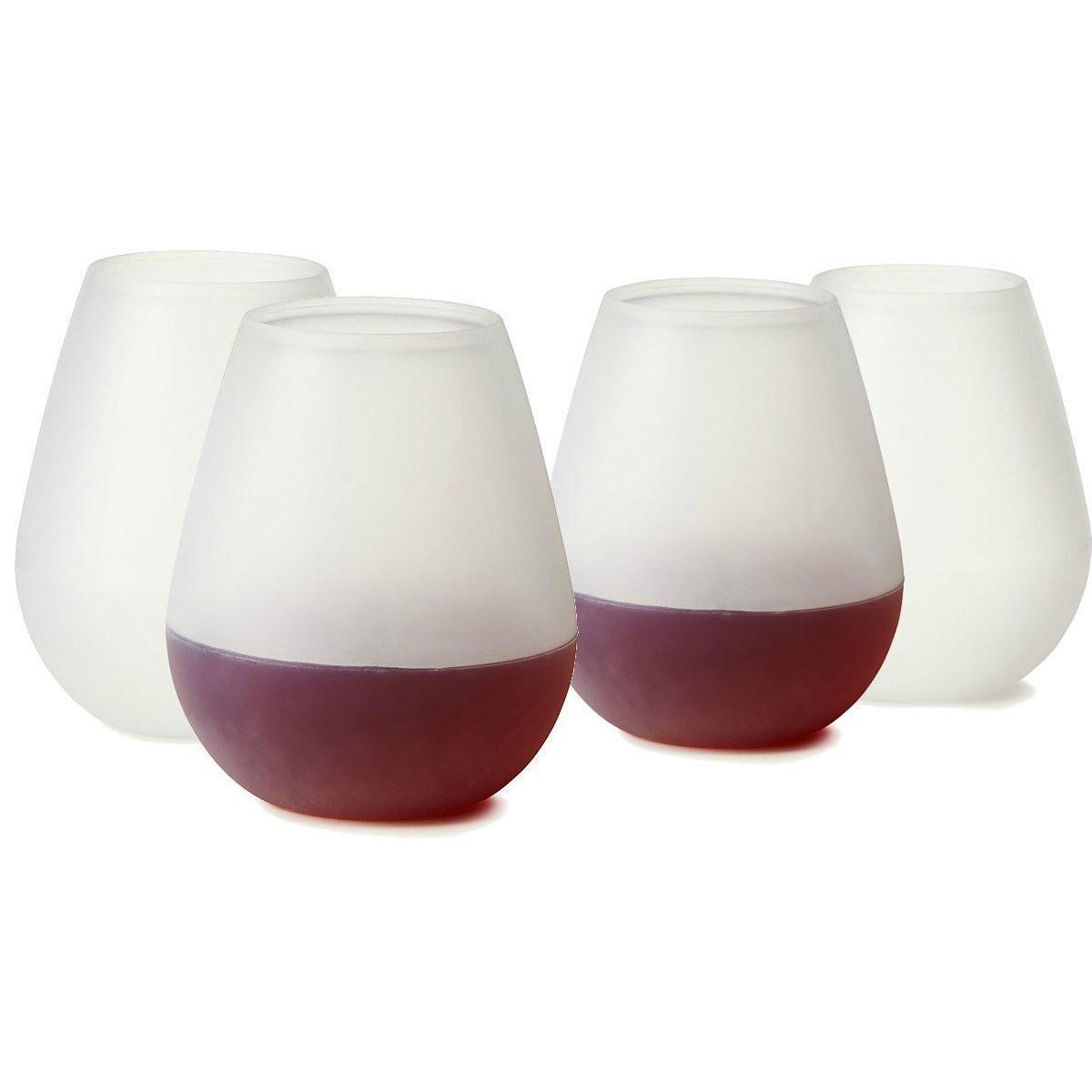Copo de Vinho de Silicone 350ml