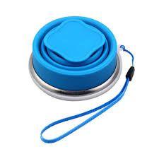 Copo Retrátil De Silicone Azul 200ml