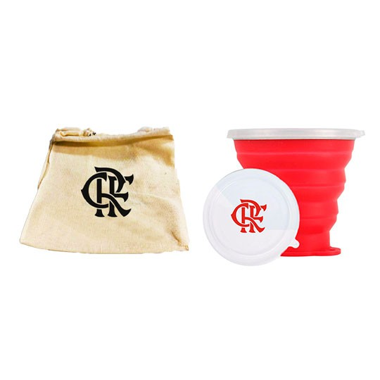 Copo Retrátil de Silicone do Flamengo 270ml