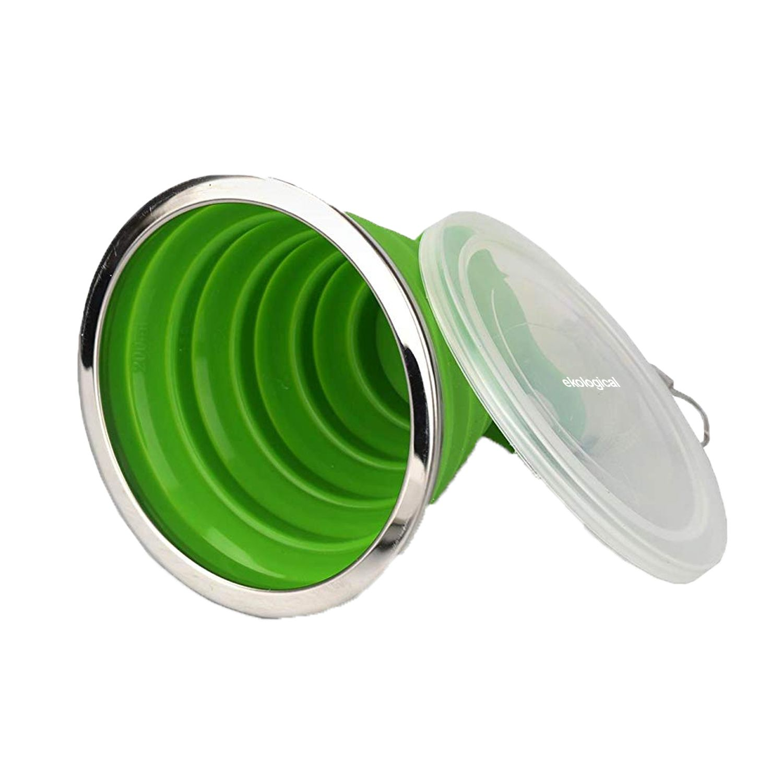 Copo Retrátil de Silicone Verde 270ml