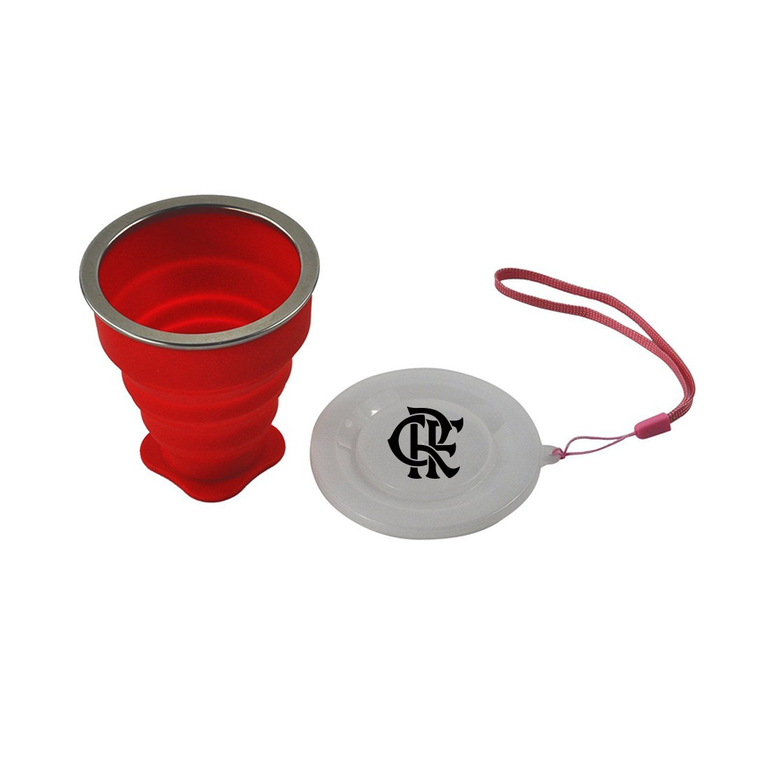 Copo Retrátil de Silicone do Flamengo 200ml