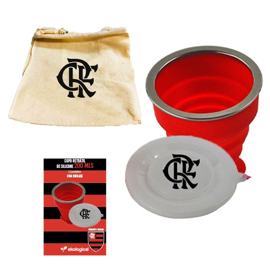 Copo Retrátil de Silicone do Flamengo 200ml