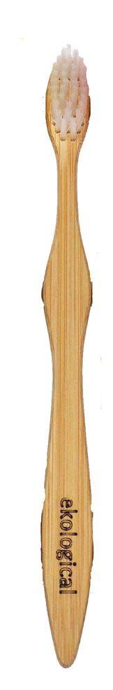 Escova de Dente de Bambu Branca