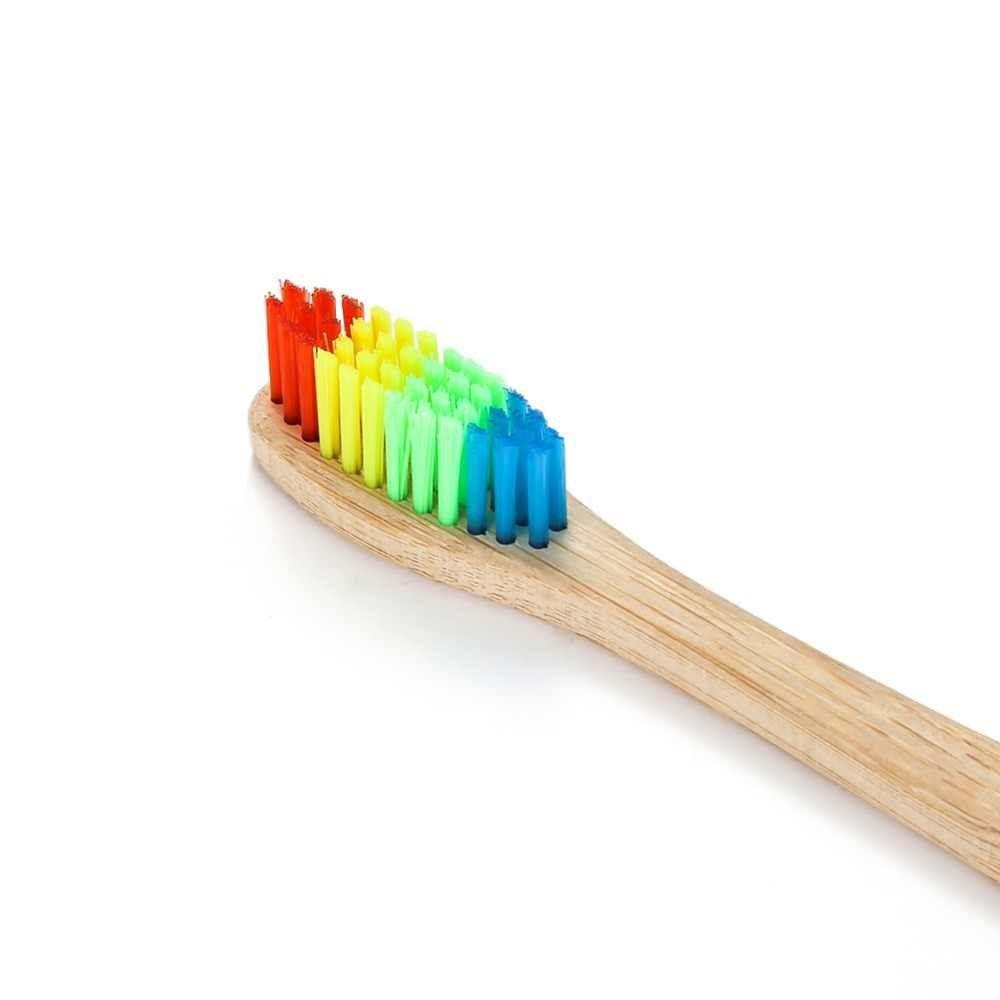 Escova de Dente de Bambú Colorida Avulsa