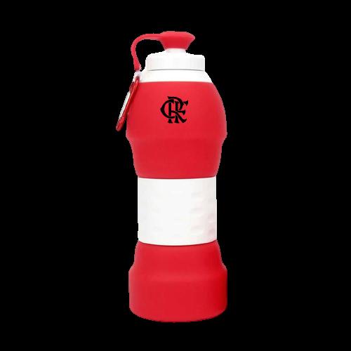 Garrafa Retrátil de Silicone do Flamengo 580ml