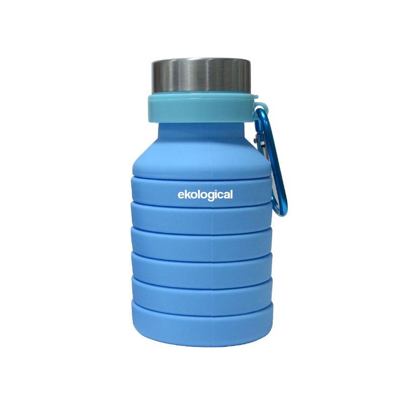 Garrafa Squeeze Retrátil de Silicone Azul 550ml