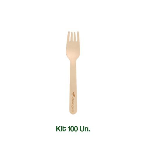 Kit 100 Garfos Biodegradáveis Ecologicos