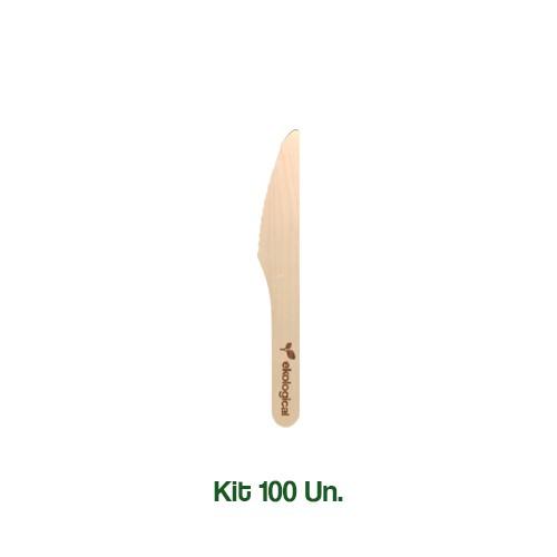 Kit 30 Facas Biodegradáveis Ecologicas
