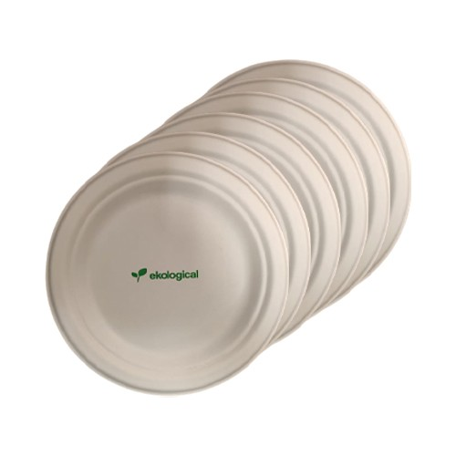 Kit 30 Pratos Biodegradáveis Ecologicas