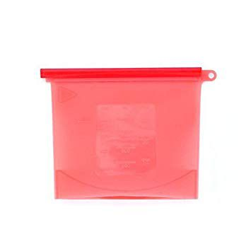 Kit 4 Sacos de Silicone Reutilizável BPA Free 1500ml
