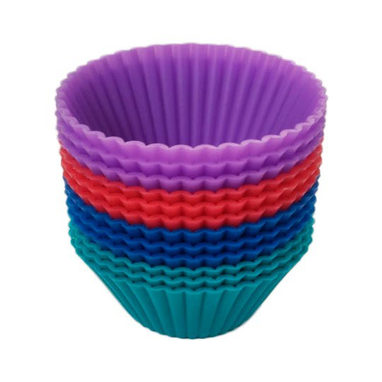 Kit c/ 12 Mini Forminhas de Silicone para Cupcake