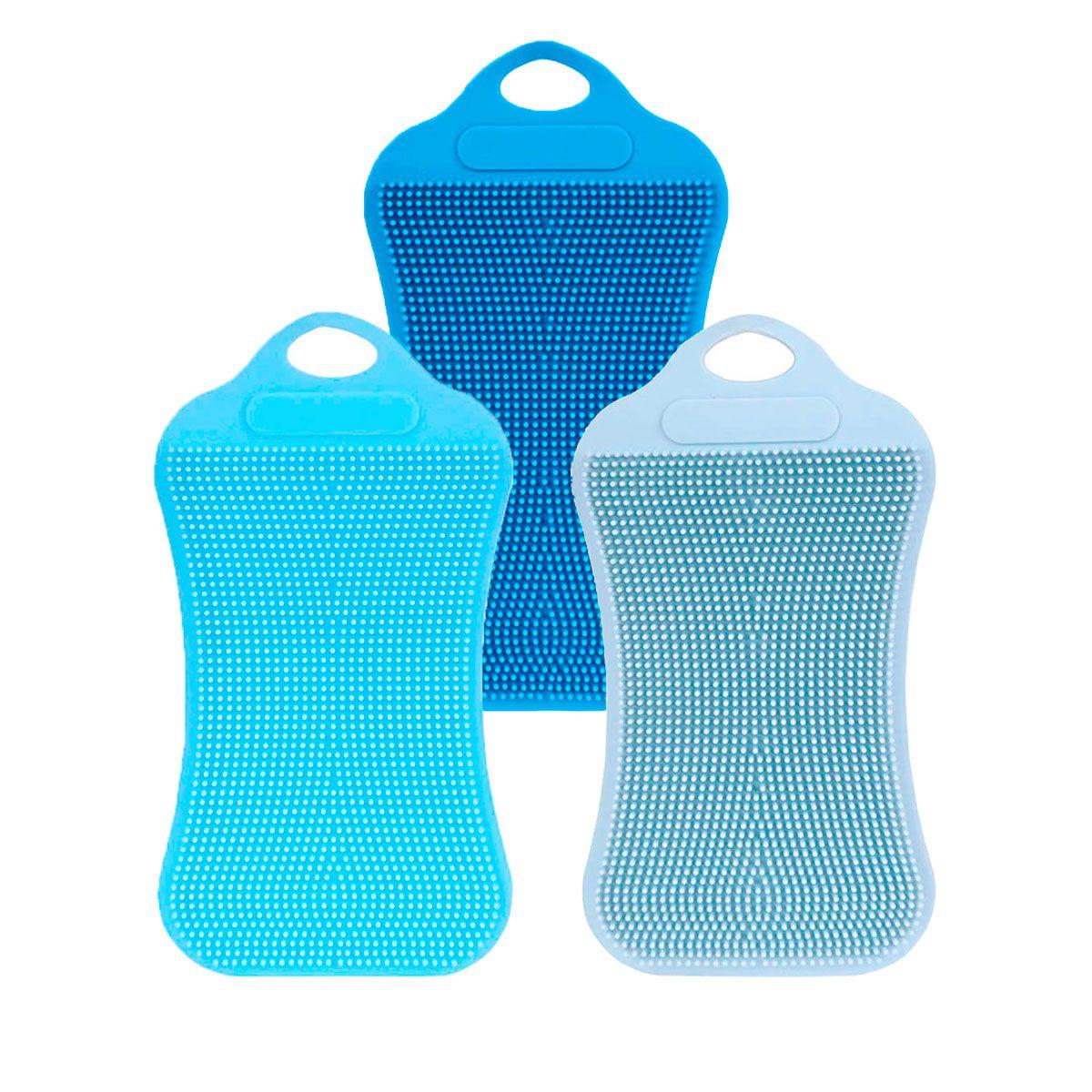 Kit c/ 3 Esponjas de Silicone Retangulares