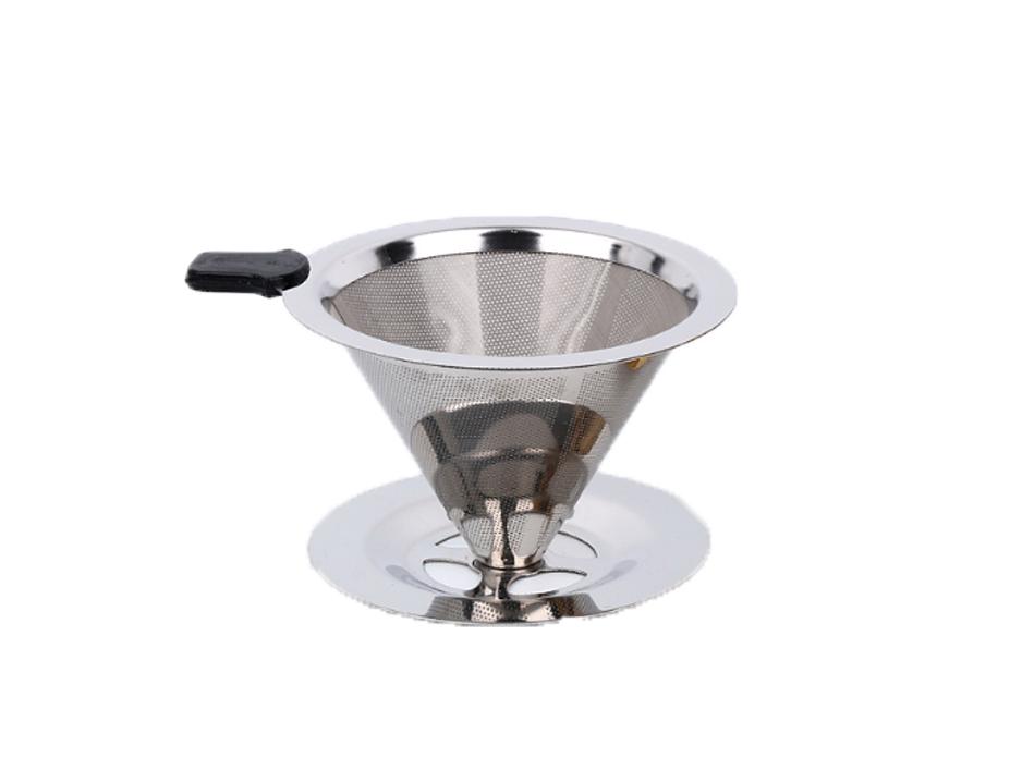 Kit Café - Filtro de Café, Infusor de Chá e Copo Retrátil 350ml