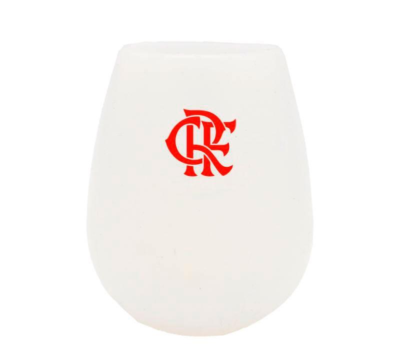 Kit com 4 Copos de Silicone do Flamengo