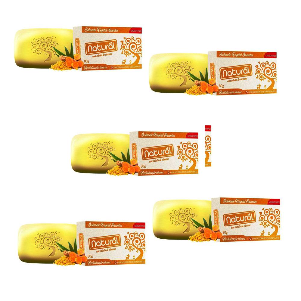 Kit com 5 Sabonetes de Açafrão Vegano