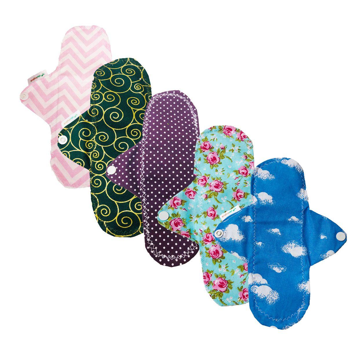 Kit de Absorventes Menstruais de Pano Reutilizáveis