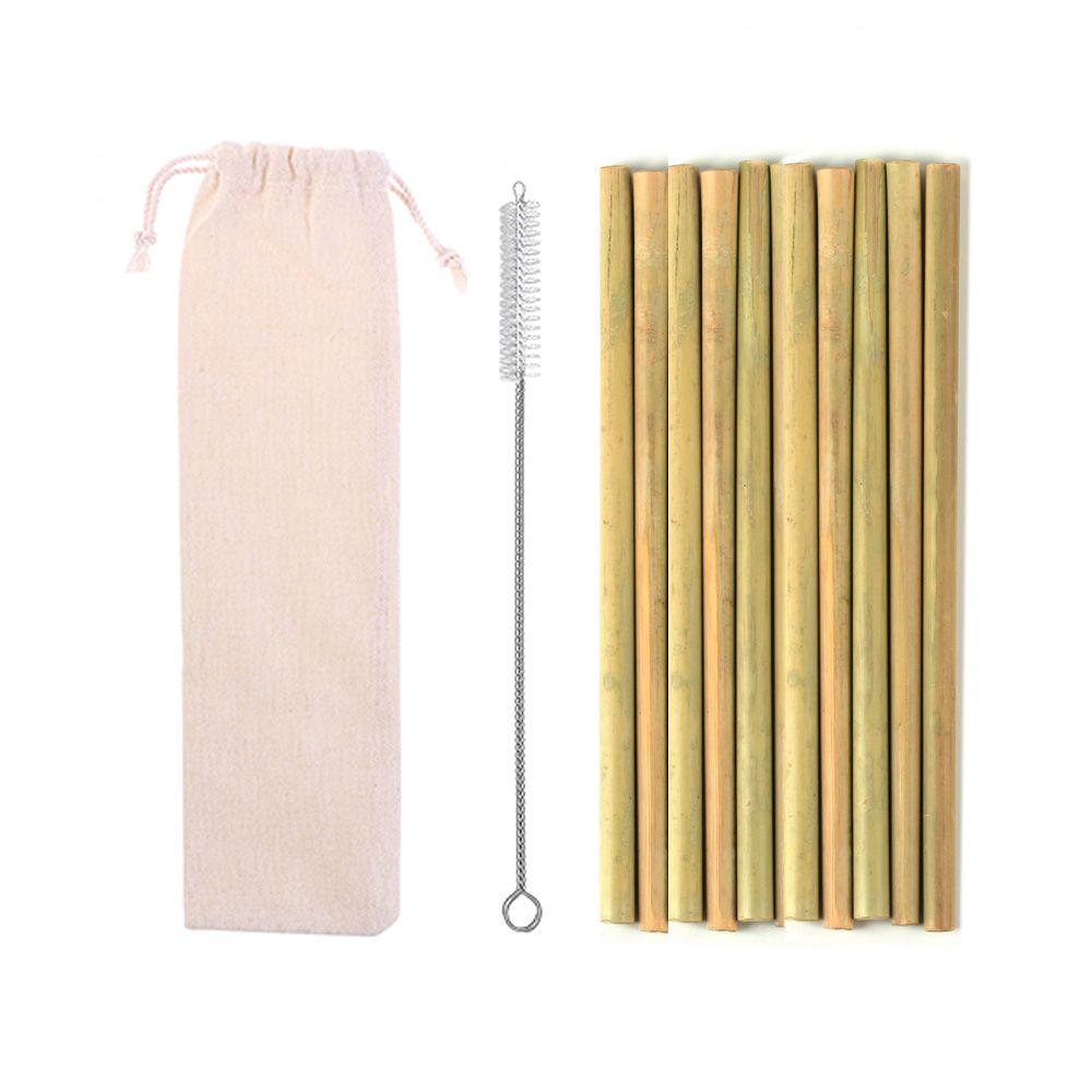 Kit de Canudo de Bambu