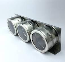 Kit Porta Tempero Magnético Aço Inox