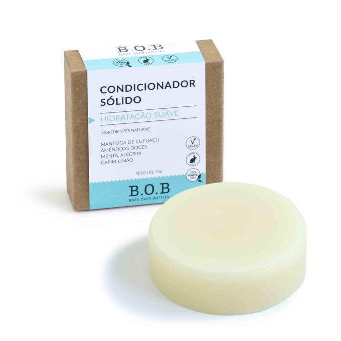 Kit Shampoo Purificante e Condicionador em Barra Hidratação Suave e Saboneteiras de Bambu