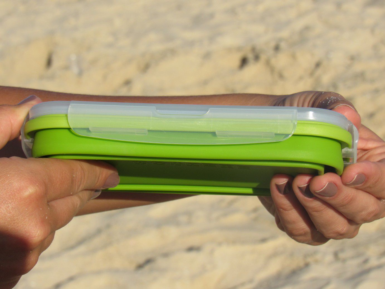 Lancheira Recipiente Ecológica Retrátil Verde 800ml