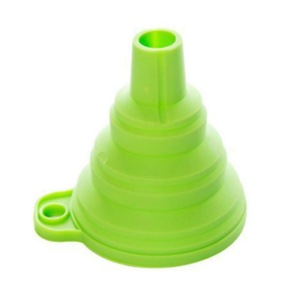 Mini Funil Portátil Dobrável de Silicone (Kit com 2)
