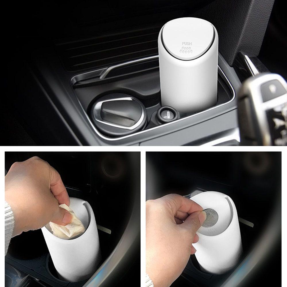 Mini Lixeira para Carro Branca