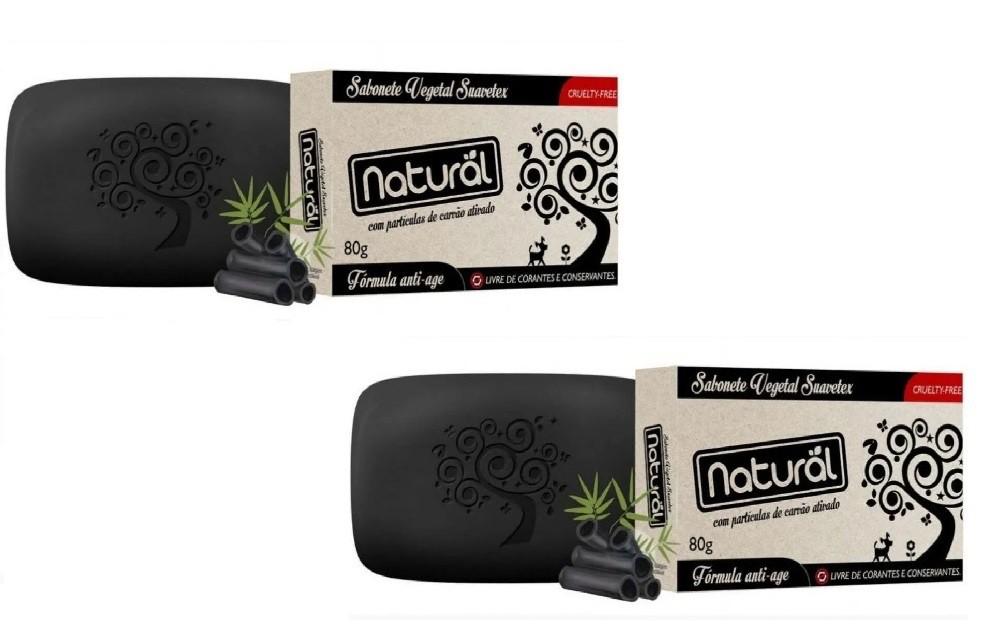 Sabonete de Carvão Ativado Vegano (kit com 2)