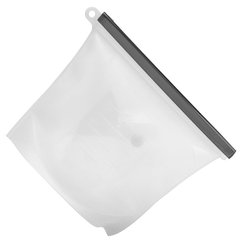 Saco De Silicone Reutilizável 1500ml Cinza