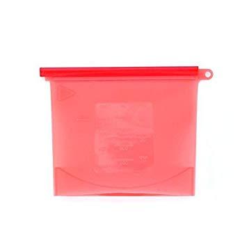 Saco Silicone Reutilizável 1500ml Vermelho Avulso