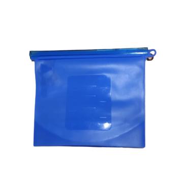 Saco Silicone Reutilizável Azul 1000ml