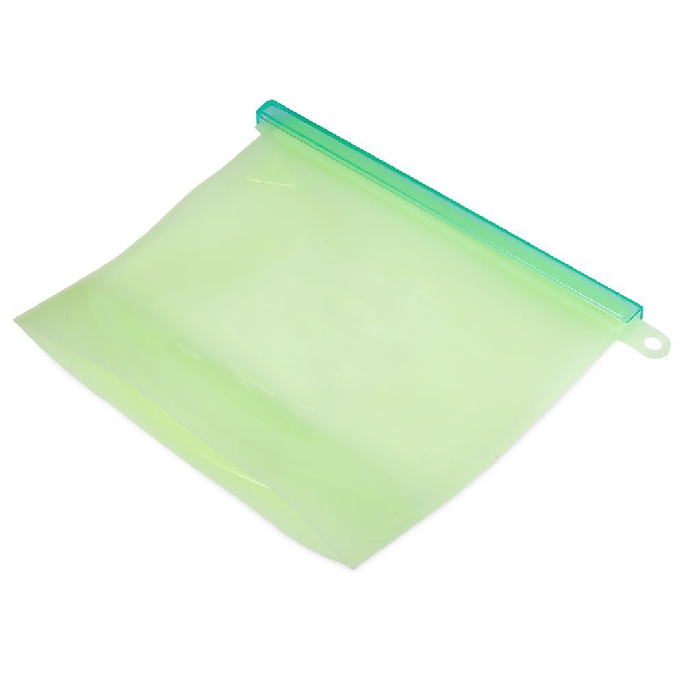 Saco Silicone Reutilizável Verde 1000ml