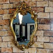 Espelho Colonial Moldura Dourado FRM 77