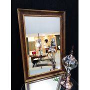 Espelho com Moldura Dourada e Marrom UD 4035.8463