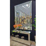 Espelho Decorativo de Parede Prata Losango Luxo