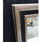 Espelho Moldura Patina Preto e Prata UD 81.215
