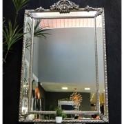 Espelho Colonial Moldura Prata FRM 77